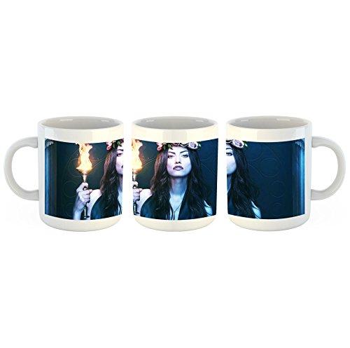 The Originals Phoebe Tonkin Hayley - Tasse mit Motiv bedruckt, 300ml C-Henkel. Tolles Geschenk für Büro, Küche, Geburtstag, Ihre neue Lieblingstasse zum Frühstück (Tee Hayley)