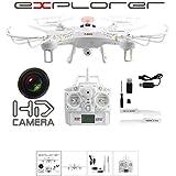fm-electrics FM118 - Drone Video Foto HD Kamera Explorer 2,4GHz Zubehör Quadrocopter Fly Extrem Ferngesteuert Neu, weiß