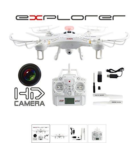 Preisvergleich Produktbild fm-electrics FM118 - Drone Video Foto HD Kamera Explorer 2,4GHz Zubehör Quadrocopter Fly Extrem Ferngesteuert Neu, weiß