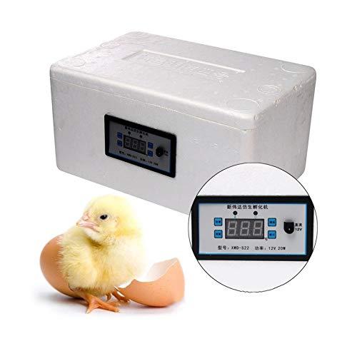 ZFF Digitale Semi Automatica Incubatrice, 20 Uova Pollame Hatcher Temperatura Controllore per Polli Anatre Oche Quaglia Uccelli