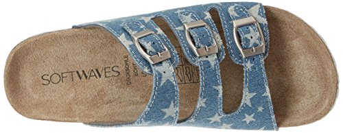 Softwaves 474 251, Mules Fille Blau (WHITE)