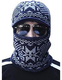 BIRAN Maschere più Lunghe Maschili Invernali in con Unico Cappuccio Cashmere  Cappelli Caldi Lavorati A Maglia 24de5a355d65