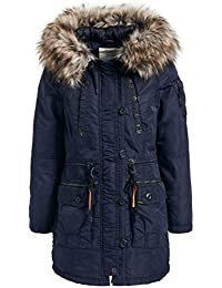 khujo Dhalia Damen Parka Mantel Winterjacke Jacke (vegan hergestellt) 174519714a