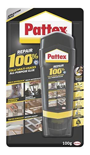 Pattex Repair 100% : la colle multi-usages pour vos projets de décoration, réparation et assemblage en intérieur comme en extérieur. Colle de réparation, multi-matériaux, 100g
