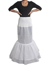 XYX enagua de la boda accesorios de la boda Enaguas Falda paseo de novia de cola de pescado de la sirena 2-aro con volantes vestido de novia de encaje crinolina deslizamiento deslizamiento prom enagua