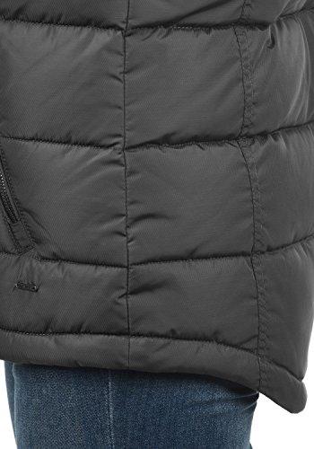 DESIRES Naomi Weste Damen Stepp-Weste Übergangsweste mit Kapuze aus hochwertiger Materialqualität Dark Grey (2890)