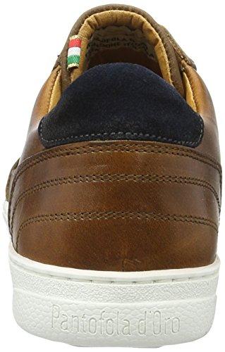 Pantofola d'Oro Stelvio Uomo Low, chaussons d'intérieur homme Marron écaille de tortue
