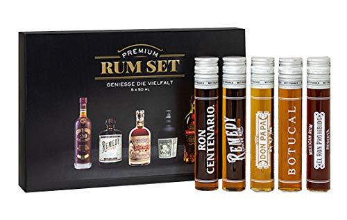 Premium Rum-Set 5x 0,05l 50ml (40% - 41,5% Vol) Tasting Set Mini - [Enthält Sulfite]