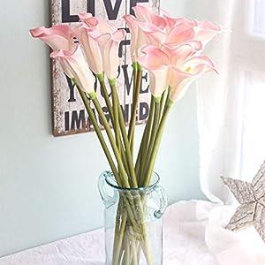 yueyue947 Calla Lily/Begonia Grande/Bouquet de Flores Artificiales/Decoración para el hogar Boda Flor Falsa Azul 3