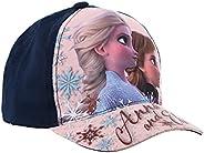 Gorra infantil de Frozen Frozen Disney Elsa y Anna azul y marino de 3 a 9 años (azul marino, cm, Numeric_52)