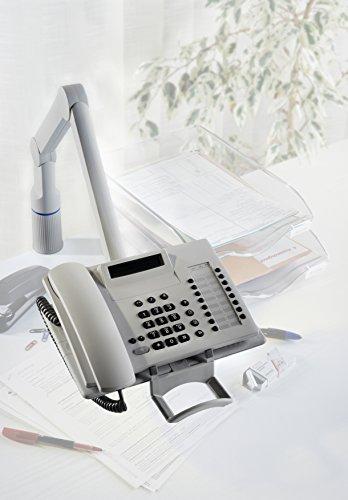 Novus TalkMaster Telefonschwenkarm (mit Telefonablage und 2-gelenkigem Schwenkarm) lichtgrau - 5