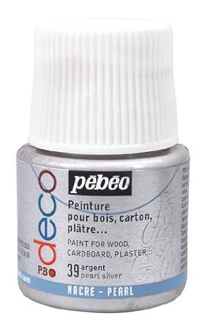 Deco Peinture - Pébéo 285039 Déco Acrylique 1 Flacon Argent