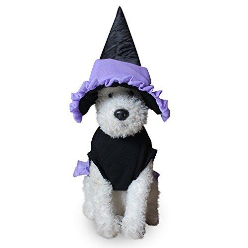 Pet Mantel dexinghaoye Haustier Hund Halloween Weich Wizard Anzug Kostüm Kleidung Puppy Cat Kleid + Hut Apparel–sdz03Wizard Anzug