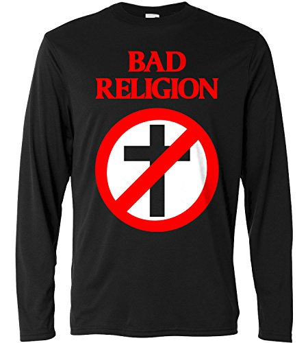 T-shirt a manica lunga Uomo - Bad Religion Cross - Long Sleeve 100% cotone LaMAGLIERIA, S, Nero