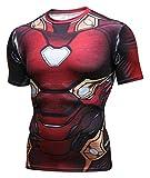 PIZOFF Unisex 3D Druck Kurzarm T-Shirt Muskelshirt Superhero Kampfanzug Iron Man AC109-07-XL