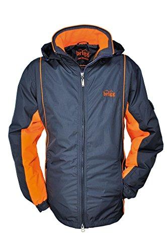 BRIGG - Unisex Funktions Jacke in diversen Farbvarianten, Wasserdicht, Atmungsaktiv, Winddicht, FS (10012001), Größe:7XL, Farbe:Navy/Neon Orange (280)