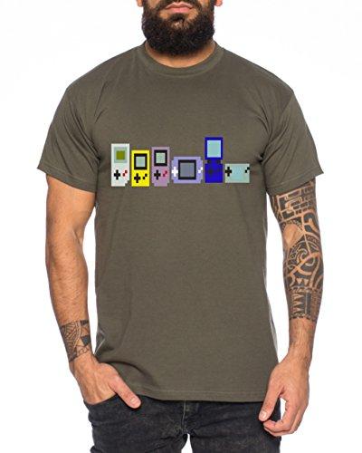 Game Evolution boy 16-Bit snes mario super kart 8-bit yoshi Herren T-Shirt Khaki