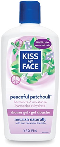 Kiss My Face Formule Gel de douche et de bain apaisant au Patchouli , 473 ml