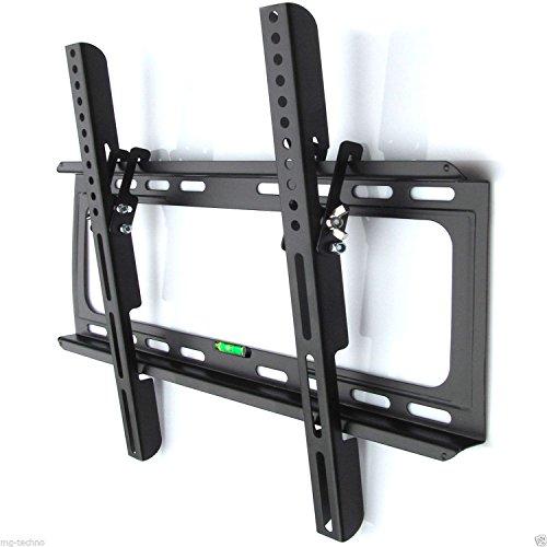 M&G Techno TV oder Monitor Wandhalterung Neigung 15° geeignet für TV und Monitore bis 140 cm Diagonal (55 Zoll) mit VESA Normen in cm: 10x10 | 20x10 | 20x20 | 30x30 | 30x40 | 40x30 | 40x40, Wandabstand max 25 mm , Farbe schwarz, universell passend für alle Monitore und TV-Marke, in bewährter M&G Techno-Qualität, Model 2907