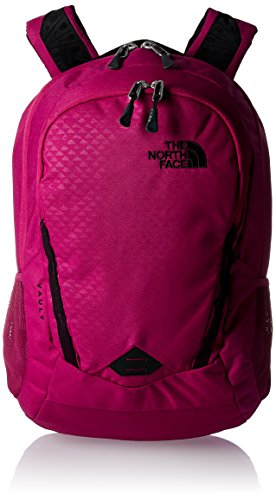 The North Face Damen W Vault Rucksack, Violett (Dark Pink), 22x24x45 Centimeters (Berg-ski-träger)