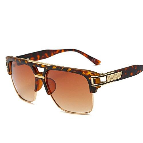 Sonnenbrille Unisex Box Retro Bunte Reflektierende Persönlichkeit Gläser,Twilight/Gradienttea - Twilight Glas