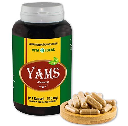 VITA IDEAL ® Yamswurzel (Dioscorea) 180 Kapseln je 510mg, aus rein natürlichen Kräutern, ohne Zusatzstoffe