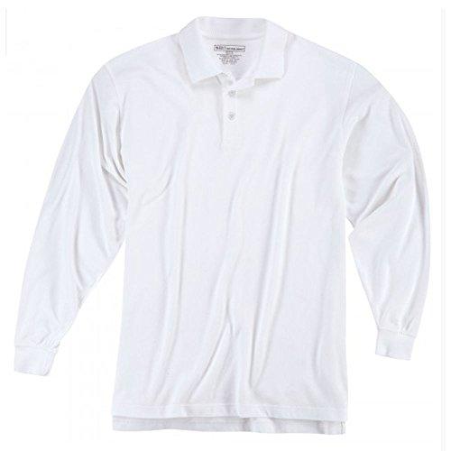 5.11Herren Utility Lange Ärmel Polo Shirt weiß