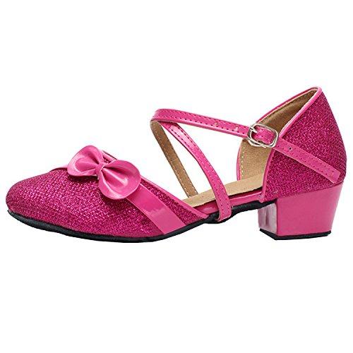 Cinta Cruz Arco Latino-fúcsia Sapatos De Dança Oasap Do Gril
