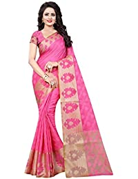 NIRJA CREATION PINK COLOR COTTON BANARASI SAREE