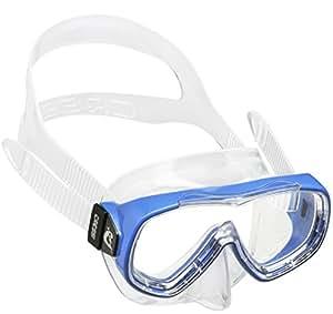 Cressi Jungen Piumetta Kid Mask Tauchmasken, Clear/Blau, 3-7 Jahre