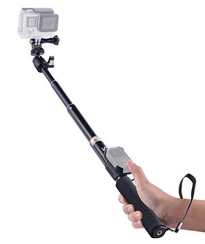 Smatree Erweiterbare Selfie Stange/Monopod für DJI OSMO Action/GoPro Hero7, Hero 2018/6/5/4/3+/3/Session(WiFi Fernbedienung ist Nicht im Lieferumfang enthalten)