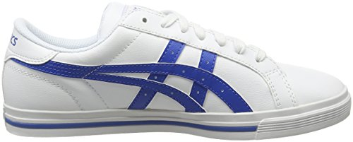 Asics Classic Tempo, Chaussures De Sport Basses Unisexes - Blanc Adulte (blanc / Bleu Classique 0142)