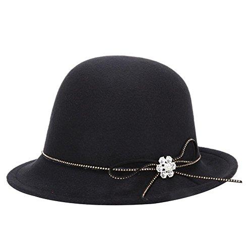 Leisial™ Sombrero de Jazz Invierno Primavera Caliente Gorro de Inglaterra de Mujeres Invierno Sombrero Femenino de Viaje Color Sólido