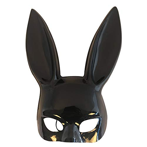 OAMORE Verschiedene Maskerade Kaninchenmaske Häschenmaske für Party/Easter/Mardi Gras/Wedding/Wall Decoration (Black-Light)
