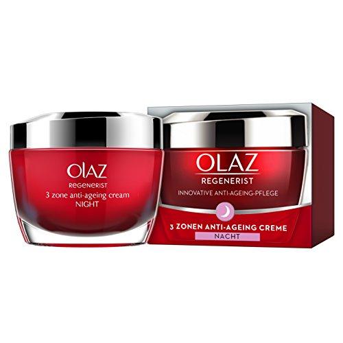 Olaz Regenerist 3-Zonen Straffende Anti-Aging Creme für Die Nacht, mit Amino-Peptid-Komplex II, 50ml