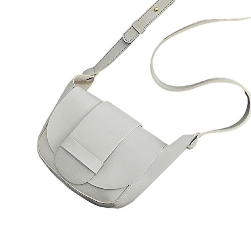 Transer Women Shoulder Bag Popular Girls Hand Bag Ladies PU Leather Handbag, Borsa a spalla donna 17cm(L)*16(H)*8cm(W), Brown (Multicolore) - YLL60909524 Grey