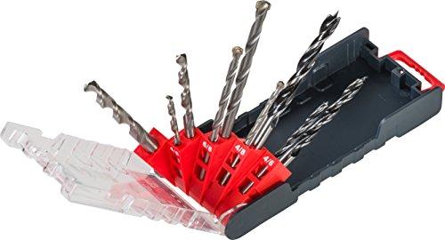 kwb PowerBox Kombibohrer-Satz – Bohrer-Set, 9-teilig für Metall, Stein, Holz
