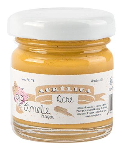 Amelie Prager AMA-07 Pintura Acrílica, Ocre, 30 ml