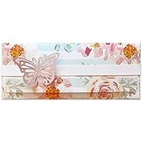 Porta soldi - delicato - cerimonie - matrimonio - busta portasoldi (formato 22 x 9,5 cm) + biglietto d'auguri vuoto all…