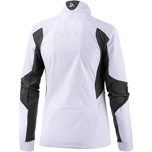 Odlo Damen Skifahren Jacke Jacket Frequency 2.0 Windstopper pearly white
