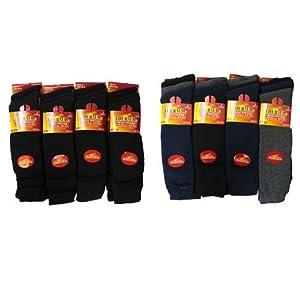 6Paar lange Thermo-Socken für Herren, zum Wandern, warme Arbeitssocken im Winter, Größe 40-46,5