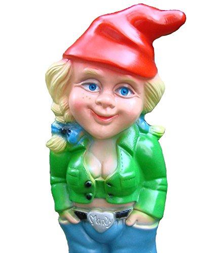 Gartenzwerg Zwergenfrau aus bruchfestem PVC Zwerg Made in Germany Figur