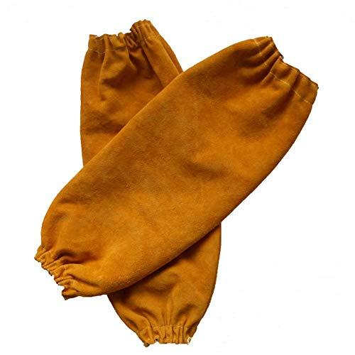 Schweißmanschetten für Herren und Damen, wärme- und flammenbeständiger Armschutz mit elastischer Manschette, 48,3 cm langer Armschutz für Schweißer, orange -