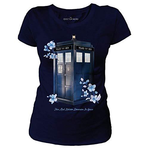 Ladies T-Shirt - Licensed Floral TARDIS Tribute