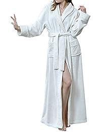 GODGETS Bata Mujer Invierno Albornoz Bata de Baño para Hombre Bata Suelto y Cómodo