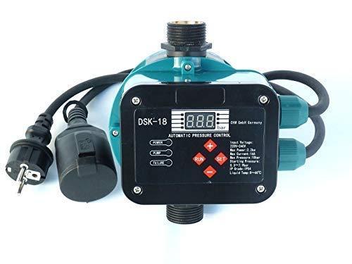 CHM GmbH Digitale vollautomatische Pumpensteuerung DSK-18 mit Sensor Technologie ! Master-Chip und Drucksensor steuern das EIN- und Ausschalten der Pumpe. Für Pumpen bis 2,2 kW. -