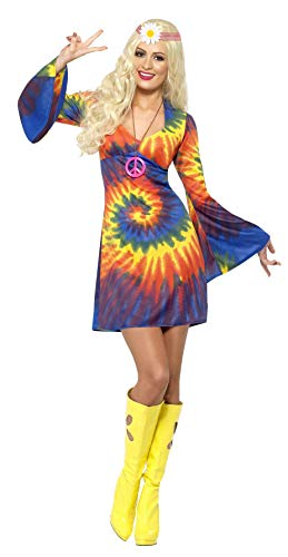 Psychedelic Tie Dye Dress for Women. Sizes 8 to 18