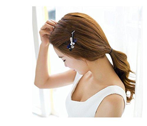 DELLT- Japon Et La Corée Du Sud Populaire Nouvelles Épingle À Cheveux Épingle À Cheveux Liu Folder Chuck Chuck Gray
