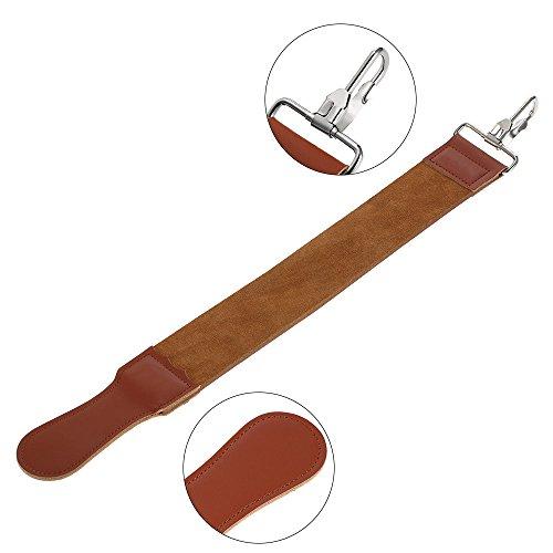 WiCareYo Straight Leder Streichriemen Spitzer Strop Strap Gürtel schärfen für Männer Rasiermesser Schärfen Barber's Knife