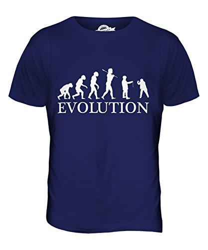 CandyMix Conkers Evolution Des Menschen Herren T Shirt Navy Blau